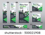 green color scheme with city... | Shutterstock .eps vector #500021908