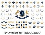 heraldic crest logos elements... | Shutterstock .eps vector #500023000