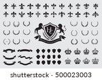 heraldic crest logos elements... | Shutterstock .eps vector #500023003