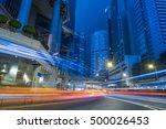 hong kong night cityscape china.   Shutterstock . vector #500026453