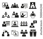 office and organization... | Shutterstock .eps vector #500044240