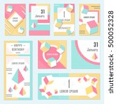 elegant modern flyers and cards ... | Shutterstock .eps vector #500052328