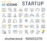 set vector line icons startup... | Shutterstock .eps vector #500052370