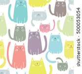 colorful seamless vector... | Shutterstock .eps vector #500053054