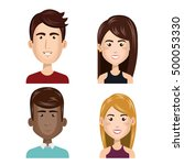 young people set avatars   Shutterstock .eps vector #500053330