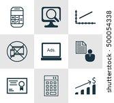 set of 9 universal editable... | Shutterstock .eps vector #500054338
