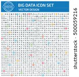 big data and network icon set... | Shutterstock .eps vector #500059216