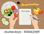dieting and nutrition. diet... | Shutterstock .eps vector #500062489