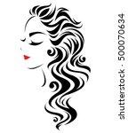 illustration of women long hair ...   Shutterstock .eps vector #500070634