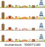 landscape of japan's four... | Shutterstock .eps vector #500071180