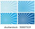 blue burst rays background ...   Shutterstock .eps vector #50007319