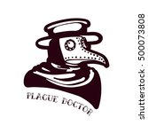 plague doctor. tattoo in the... | Shutterstock .eps vector #500073808