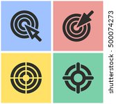 target vector icons set.... | Shutterstock .eps vector #500074273
