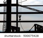 Silhouette Of Crane Hook