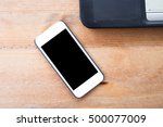 smart phone with blank mobile | Shutterstock . vector #500077009