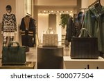 clothing store showcase | Shutterstock . vector #500077504