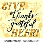 give thanks with a grateful... | Shutterstock .eps vector #500082319