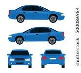 vector city car  four views ... | Shutterstock .eps vector #500086984
