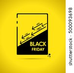 black friday simple background... | Shutterstock .eps vector #500093698