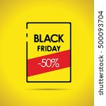 black friday simple background... | Shutterstock .eps vector #500093704