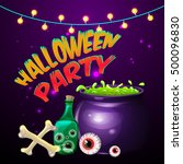 halloween party for invitation... | Shutterstock .eps vector #500096830