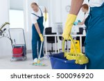 image of person holding mop... | Shutterstock . vector #500096920