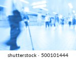 people traveling at train... | Shutterstock . vector #500101444