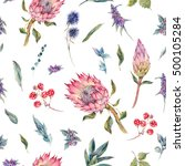 classical vintage floral... | Shutterstock . vector #500105284