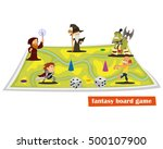 is fantasy board game with... | Shutterstock .eps vector #500107900