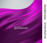 purple silk fabric. vector... | Shutterstock .eps vector #500108206