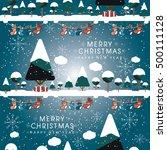 merry christmas landscape.  | Shutterstock .eps vector #500111128