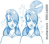 portrait of the girl symbolizes ... | Shutterstock .eps vector #500116000