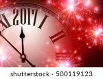 2017 year red shining... | Shutterstock .eps vector #500119123