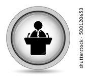 speaker icon. internet button... | Shutterstock . vector #500120653