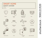 smart home. safety system  ... | Shutterstock .eps vector #500121520