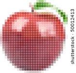 Illustration Of Tiled Red Apple