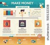 make money   info poster ... | Shutterstock .eps vector #500132338