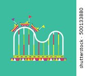 roller coaster icon  amusement... | Shutterstock .eps vector #500133880