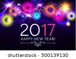 happy new 2017 year with... | Shutterstock .eps vector #500139130