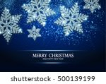christmas greeting card and... | Shutterstock .eps vector #500139199