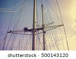 yachting sail mast detail on... | Shutterstock . vector #500143120