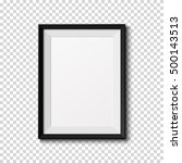 black frame isolated on... | Shutterstock .eps vector #500143513