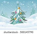 winter holidays concept vector. ... | Shutterstock .eps vector #500145790