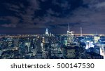 manhattan cityscape with...   Shutterstock . vector #500147530