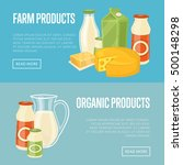 farm and organic products... | Shutterstock .eps vector #500148298