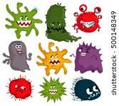 cartoon virus character vector... | Shutterstock .eps vector #500148349