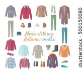 men's clothing. autumn winter... | Shutterstock .eps vector #500150080