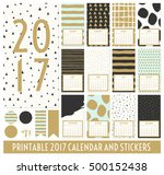 twelve month 2017 calendar... | Shutterstock .eps vector #500152438