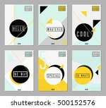 a collection of six abstract... | Shutterstock .eps vector #500152576