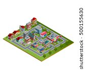 isometric cityscape with low... | Shutterstock .eps vector #500155630